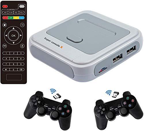 Super Console X PRO Videospielkonsole Retro-Spielekonsole mit über 50.000 integrierten Kartenspielen, Klassische Spielekonsolen für 4K-TV-HDMI-Ausgang, Unterstützung für NES/N64/PS1/ PSP, WLAN/LAN