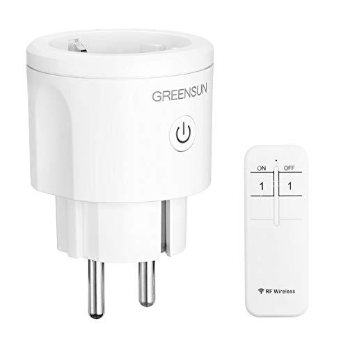 Funksteckdosen mit Fernbedienung, GreenSun Smart Home Steckdose einfach Ferngesteuerte Stecker, 30M Reichweite Smart Plug