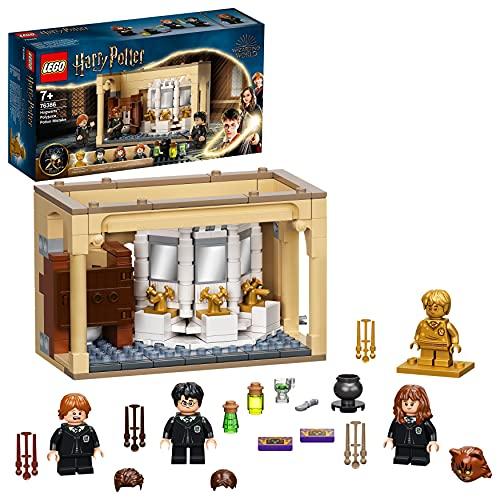 LEGO 76386 Harry Potter Hogwarts: Misslungener Vielsaft-Trank Set zum 20. Jubiläum mit Harry als goldene Minifigur, Fanartikel
