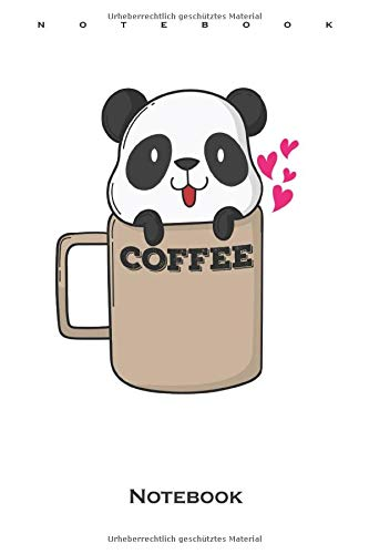 Panda Bear in Coffee Cup Notebook: Dot Grid Journal/Logbook for Friends of the Bamboo Eating Panda Bears