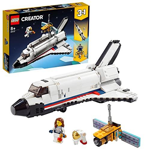 LEGO 31117 Creator 3 in 1 Spaceshuttle-Abenteuer Weltraum Spielzeug für Kinder ab 8 Jahre mit Astronauten Figur