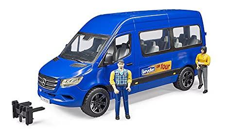 Bruder 02670 - MB Sprinter Transfer mit Fahrer und Fahrgast inklusive 2 Figuren und Fahrzeug