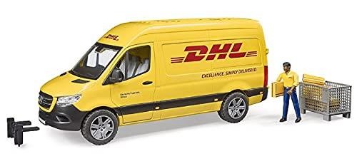 Bruder 02671 - MB Sprinter DHL mit Fahrer inkl. Gitterbox mit Versandpaketen
