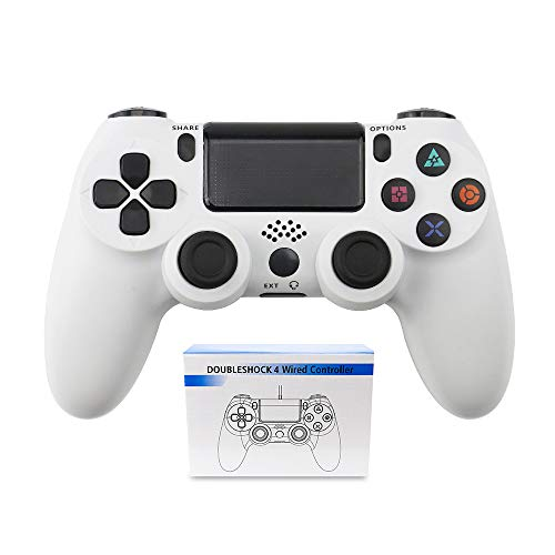 Wireless PS4 Controller, Bluetooth Game Controller für PS4/PS4 Slim/PS4 Pro, Gamepad mit Dual Vibration und Audio Jack Controller