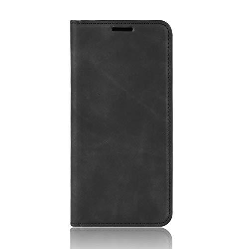 TOPOFU Handyhülle für Motorola Moto G30 Hülle Leder, Premium Leder Flip Schutzhülle Ledertasche Etui Klapphülle Handytasche Lederhülle, TPU/PU Wallet Case (Schwarz)