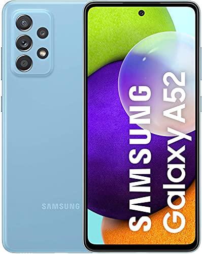 Samsung Galaxy A52 Smartphone ohne Vertrag 6.5 Zoll Infinity-O FHD+ Display, 128 GB Speicher, 4.500 mAh Akku und Super-Schnellladefunktion, blau, 30 Monate Herstellergarantie [Exklusiv bei Amazon]