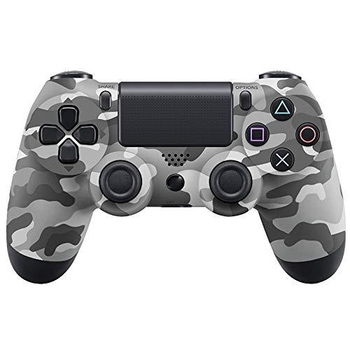 PS4 Controller, kabelloser Controller für PS4, mit Ladekabel und Doppelstock, Weiß