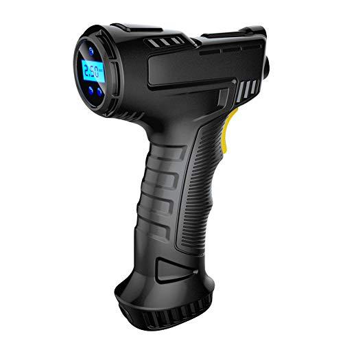 KKmoon 120W Kabelloser Auto Luftpumpe Digital USB Auto Luftkompressor, Digitalanzeige LCD Wiederaufladbarer Akku Auto Tragbare Reifenpumpe zum Autos, Motorrädern,Fahrrädern Bälle, LED Beleuchtung