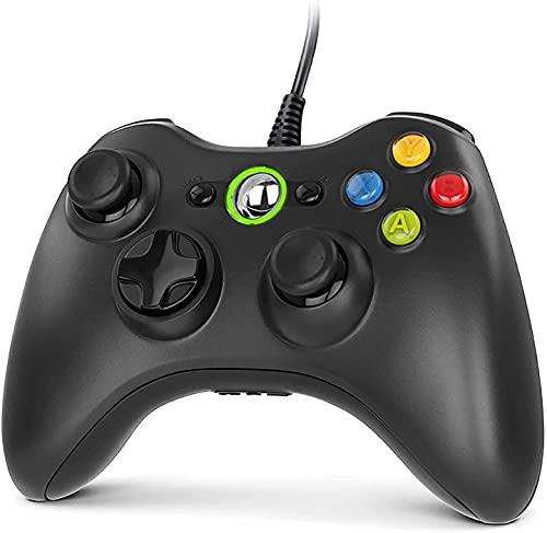 Gezimetie Controller für Xbox 360, Gamepad Joystick mit USB Kabel, Wired Gamepad für Microsoft Xbox 360 und Xbox 360 Slim/Windows PC(Windows 7/8/8.1/10/XP/Vista)