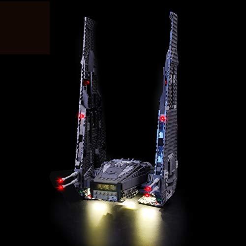 MNVOA Led Beleuchtungsset Für Lego Star Wars Kylo Ren\'s Command Shuttle, Kompatibel Mit Lego 75104 Bausteinen Modell(Modell Nicht Enthalten)