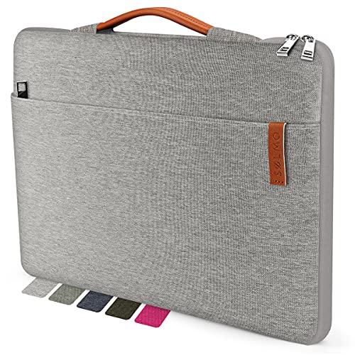 "sølmo I Design Laptop-Tasche 15-15.6 Zoll, Laptophülle 15.6 Zoll, Stoßfeste Notebooktasche kompatibel mit 15,6\"" MacBook Pro, Lenovo IdeaPad, Ultrabook, Dell Inspiron 15, MacBook Air Hülle, Grau"