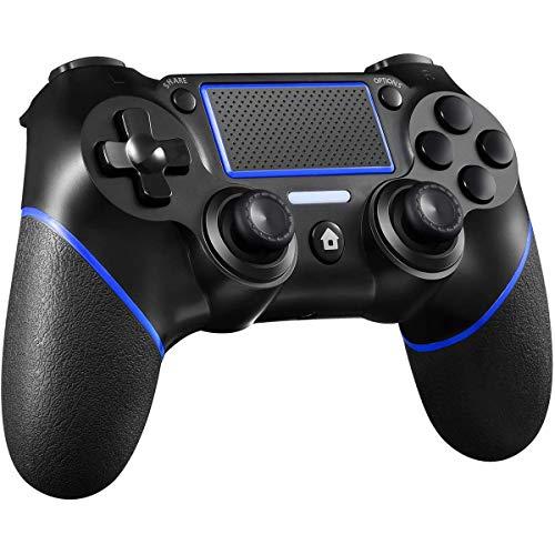AODE PS4 Wireless Controller für Wireless Game Controller für PS4/Pro/Slim/PC,Wireless Controller mit LED-Touchpanel-Gamepad und Dual Vibration Shock sowie 3,5mm Audiobuchse und rutschfester Ergonomie