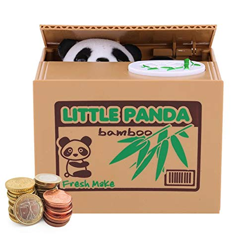 Auped Spardose Digital Sparbüchse Elektronisch Sparschwein Münze Bank für Kinder (Panda)