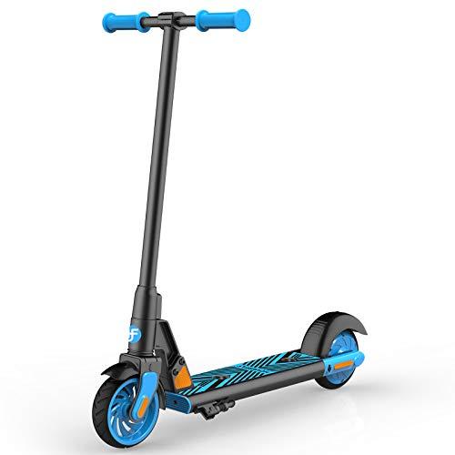"""Elektro Scooter für Kinder, HOVERFLY GKS 150W Elektro Kinderroller ab 6 bis 12 Jahren, Electric Roller 12 km/h, 6\"""" Vollreifen, Kick-Start Boost für Kinder/Mädchen/Jungliche Frau, bis 55kg"""