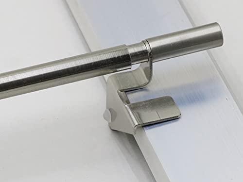 Klemmstange Spannstange für Gardine 40 - 120 cm Edelstahl (60 cm)