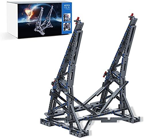 MILLIONSPRING Vertikaler Display-Ständer für LEGO Star Wars 75192 Millennium Falcon, Display-Ständer – 407 Teile (nicht im Lieferumfang enthalten)