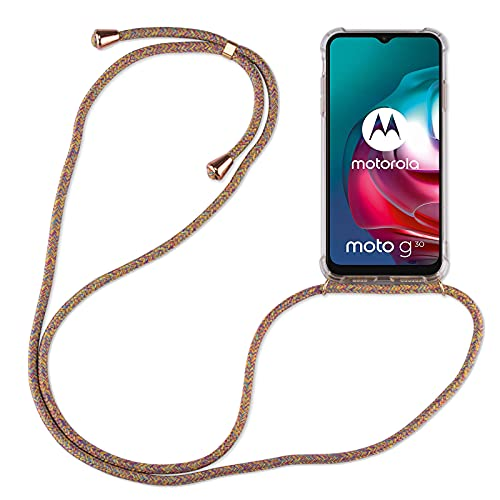 betterfon   Handykette kompatibel mit Motorola Moto G10 / G30 Smartphone Necklace Hülle mit Band - Schnur mit Case zum umhängen in Motorola Moto G10 / G30 Rainbow
