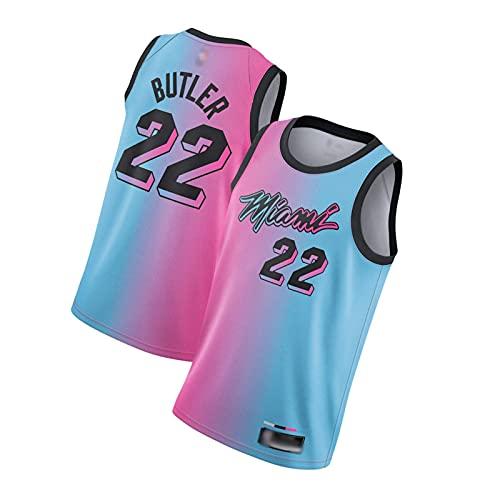 ZRHZB Miami Heat #22 Jimmy Butler #14 Taylor Hilo Basketball Herren Trikot schnell trocknend Swingman Jersey,A,M