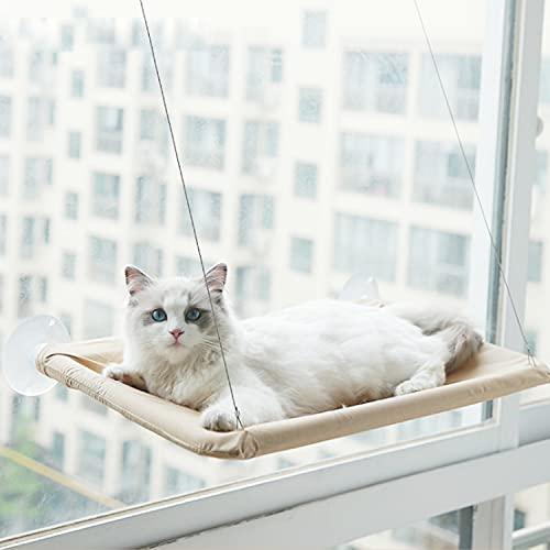 Aischens Katzen Fensterplatz Window Lounger Fenster Katzenhängematte für Katzen, Extra Stabiler Sonnenbad Katzenbett, Haustierbett für Haustier Katze klein Hund Kaninchen oder andere Kleintie(55x32cm)