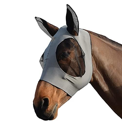 Pferdefliegenmaske Pferde Fliegenmaske Fliegenmasken Horse Fly Mask Fliegenschutzmaske Insektenschutz UV-Schutz mit Ohren