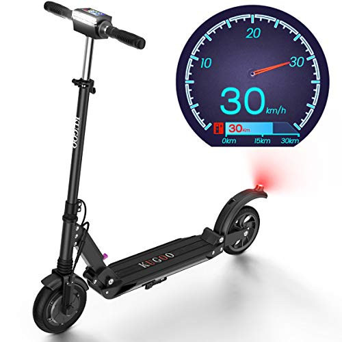 Elektro Scooter Geschwindigkeit 30 Km/h, 30 Km Reichweite 350W Motor 8 Zoll Vollreifen Faltbarer Elektroroller für Jugendliche Und Erwachsene - S1