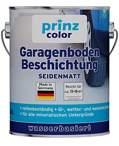 prinzcolor Premium Garagenbodenbeschichtung Bodenbeschichtung Bodenfarbe Anthrazitgrau 2,5l