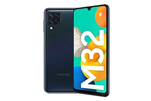 Samsung Galaxy M32 Android Smartphone ohne Vertrag, 6,4-Zoll -Infinity-U-Display, starker 5.000 mAh Akku, 128 GB/6 GB RAM, Handy in Schwarz, deutsche Version exklusiv bei Amazon