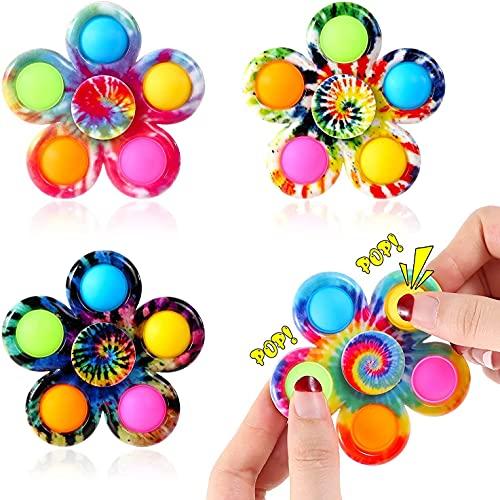 4 Pcs Anti Stress Spielzeug, Fidget Toys, Sensory Anti-Stress Toy, Hand Toy, Push Bubble Fidget Sensory Toy, Bubble Sensory Anti-Stress Toy for Adults Stress Reliefand Children Early Learning Toy