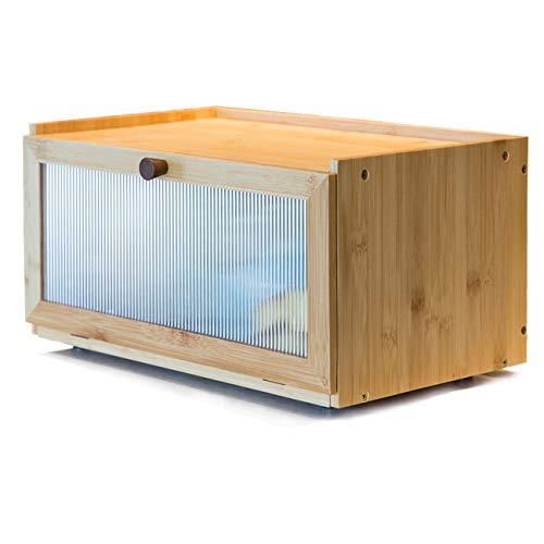 AINILE brotkasten Bambus brotbox Stylischer Brotbehälter 40x25x20CM