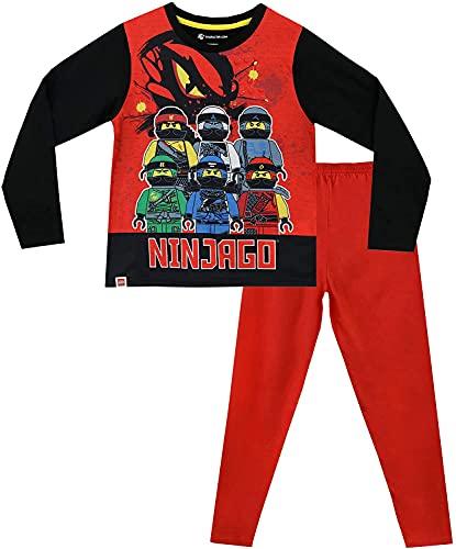 LEGO Ninjago Schlafanzug Pyjama Jungen (Rot, 134)