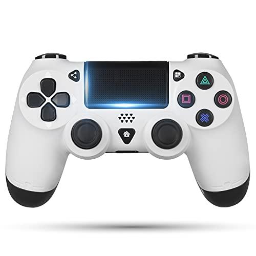 OUSMIN PS4 Controller, Bluetooth Wireless Controller für PS4/Pro/Slim (Weiß)