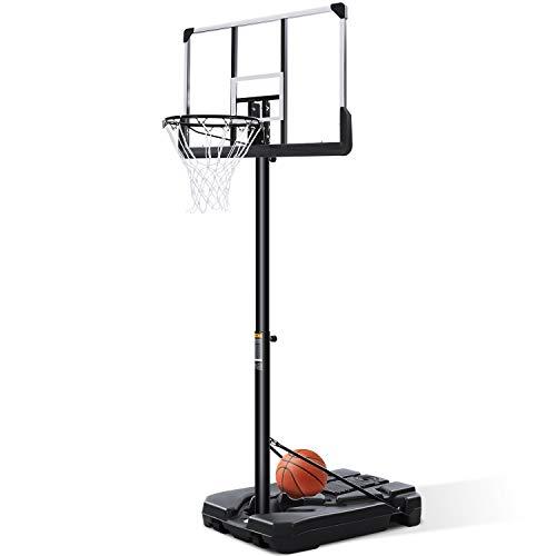 Basketballkörbe Basketballständer mit Ständer 305 cm Einstellbar mit Wasser Sand Basketballanlage Höhenverstellbar Tragbar für Kinder im Freien zu Hause Indoor Outdoor