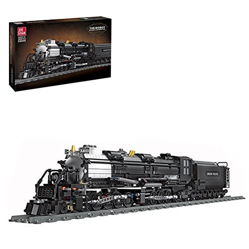 Hedi Technik Zug Locomotive mit Eisenbahn Schienen, 1608 Klemmbausteine City Güterzug Kompatibel mit Lego Technic