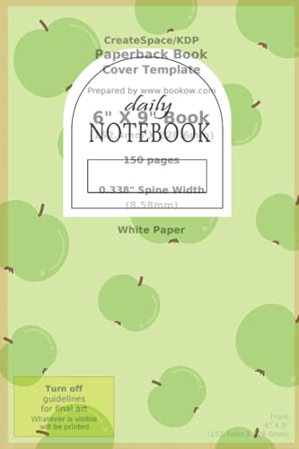 Apple Notebook: Cute Green Apple Lined Page Daily Notebook / Kawaii 120 lined Page (6 x 9 inch) Notebook for School, College, Work And Personal Use